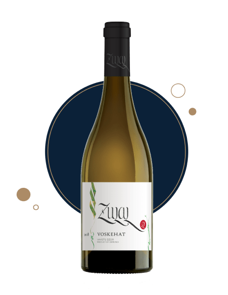 Armenian white wine zulal voskehat 2018